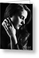 Glamorous Woman Greeting Card