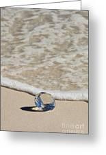 Glass Diamond On The Beach Greeting Card