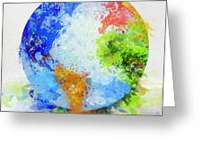 Globe Painting Greeting Card by Setsiri Silapasuwanchai