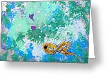 1 Gold Fish Greeting Card