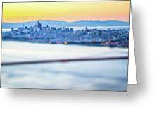 Golden Gate Bridge San Francisco California West Coast Sunrise Greeting Card