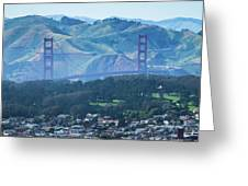 Golden Gate Bridge View From Twin Peaks San Francisco Greeting Card