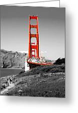 Golden Gate Greeting Card by Greg Fortier