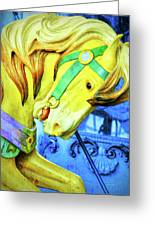 Nyc Golden Steed  Greeting Card