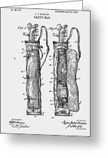 Golf Caddy Bag Patent 1905 Greeting Card