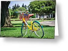 Google Bike Parked Near Googleplex Facility Park Greeting Card