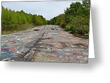 Graffiti Highway, Facing North Greeting Card
