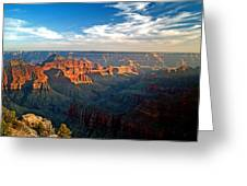 Grand Canyon National Park - Sunset On North Rim Greeting Card