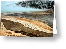 Grand Prismatic Pool In Yellowstone National Park Greeting Card by Pierre Leclerc Photography