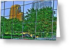 Grand Rapids Mi On Glass-17 Greeting Card