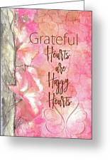 Grateful Hearts Greeting Card
