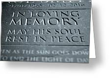 Gravestone In Loving Memory Greeting Card