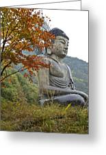 Great Buddha In Autumn Greeting Card