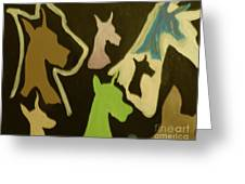 Great Danes Greeting Card