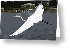 Great Egret At Melbourne Beach Greeting Card