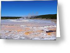 Great Fountain Geyser In Yellowstone National Park Greeting Card