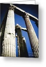 Greek Pillars Greeting Card