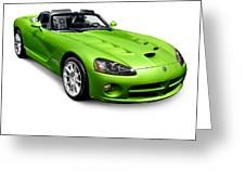 Green 2008 Dodge Viper Srt10 Roadster Greeting Card