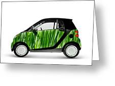 Green Mini Car Greeting Card