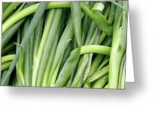 Green Onion Market Bergen Greeting Card
