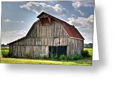 Grey Barn Greeting Card by Douglas Barnett