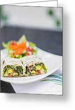 Grilled Vegetable And Salad Wrap Greeting Card