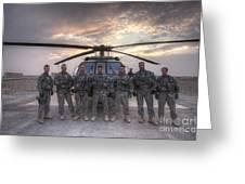 Group Photo Of Uh-60 Black Hawk Pilots Greeting Card