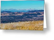 Grouse Mountain And Sangre De Cristo Greeting Card