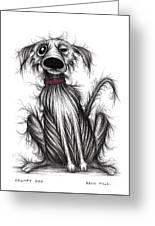 Grumpy Dog Greeting Card