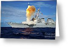 Guided Missile Destroyer Uss Hopper Greeting Card