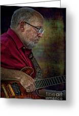 Guitar Picker In The Park On Sunday Greeting Card