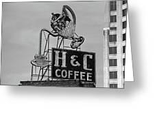 H C Coffee Greeting Card