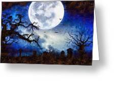 Halloween Horror Night Greeting Card