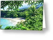 Hamoa Beach Hana Maui Hawaii Greeting Card