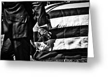 Hand In Flag Greeting Card
