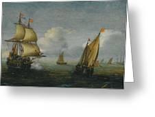 Hans Goderis Dutch Shipping At Sea, 1615 Greeting Card