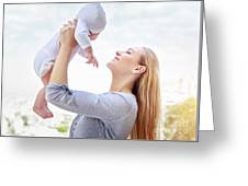 Happy Mother With Baby Greeting Card