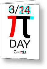 Happy Tau And Pi Day Greeting Card