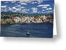 Harbor In Corricella Greeting Card