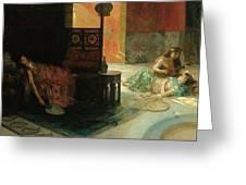 Harem Scene Henry Siddons Mowbray Greeting Card