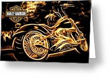 Harley-davidson Greeting Card by Aaron Berg