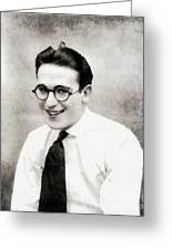 Harold Lloyd, Legend Of The Silver Screen Greeting Card