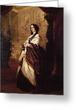 Harriet Howard Duchess Of Sutherland Franz Xavier Winterhalter Greeting Card