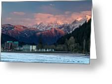 Harrison Hot Springs And Mount Cheam Range Greeting Card