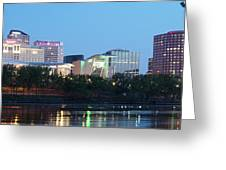 Hartford Skyline Panorama Greeting Card