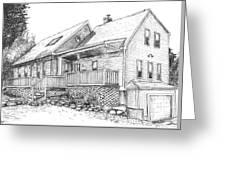 Harvey Lake House Greeting Card