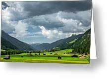 Hay Barns In Oberinntal, Pettneu Am Arlberg Greeting Card