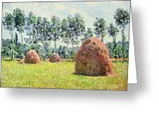 Haystacks At Giverny Greeting Card