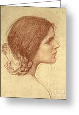 Head Of A Girl Greeting Card