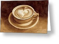 Heart Latte II Greeting Card